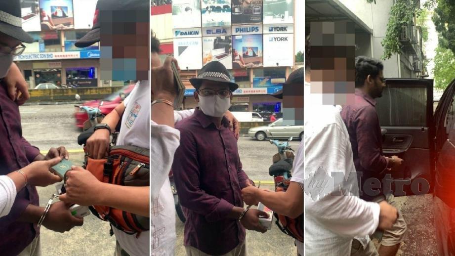 MD Rayhan Kabir ditahan JIM di Setapak, Kuala Lumpur, semalam. FOTO Ihsan JIM