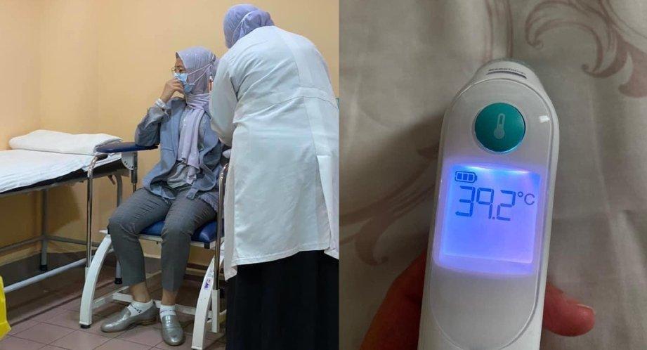 ERRA Fazira sedang dirawat di Petaling Jaya akibat demam denggi.