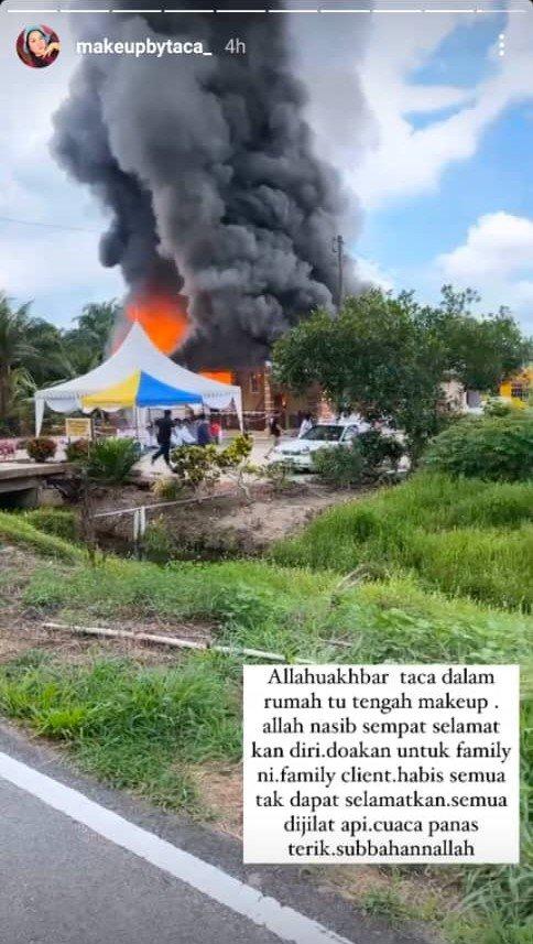 """[VIDEO] Majlis Tunang Bertukar Tragedi- """"Ya Allah Tengah Makeup Rumah Terbakar"""" 4"""