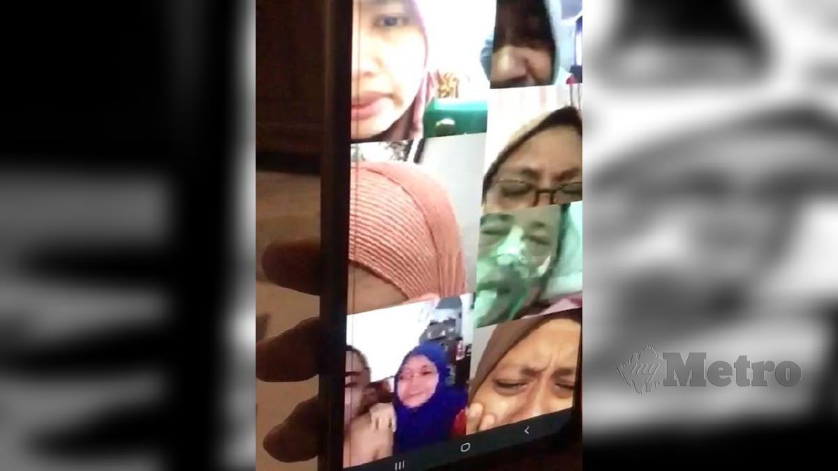 TANGKAP layar panggilan video. FOTO Ihsan Pembaca
