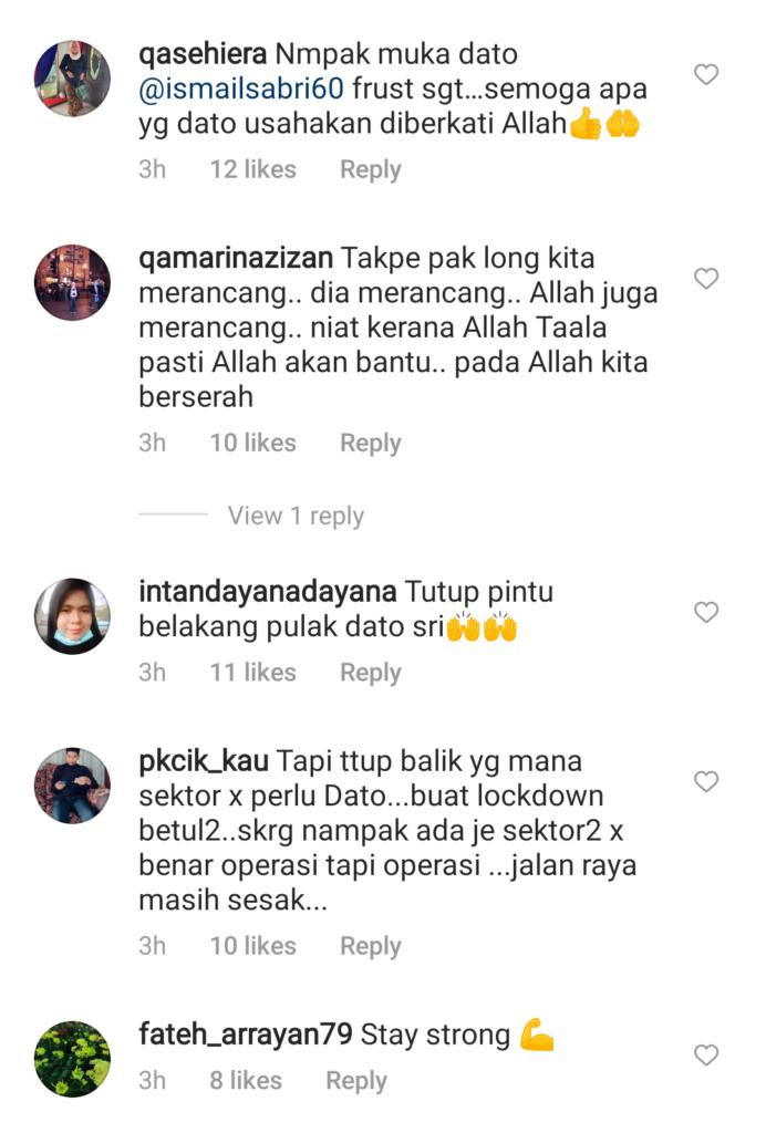 Saya Tutup Pintu Depan Tapi Kapsyen Sedih Dato Ismail Sabri Kecewa Dengan Lockdown Hiburan Myr News